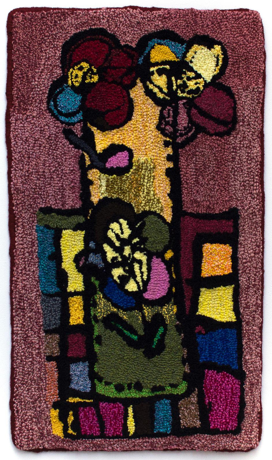 Darrel Davis, Untitled, 2017, Hooked rug