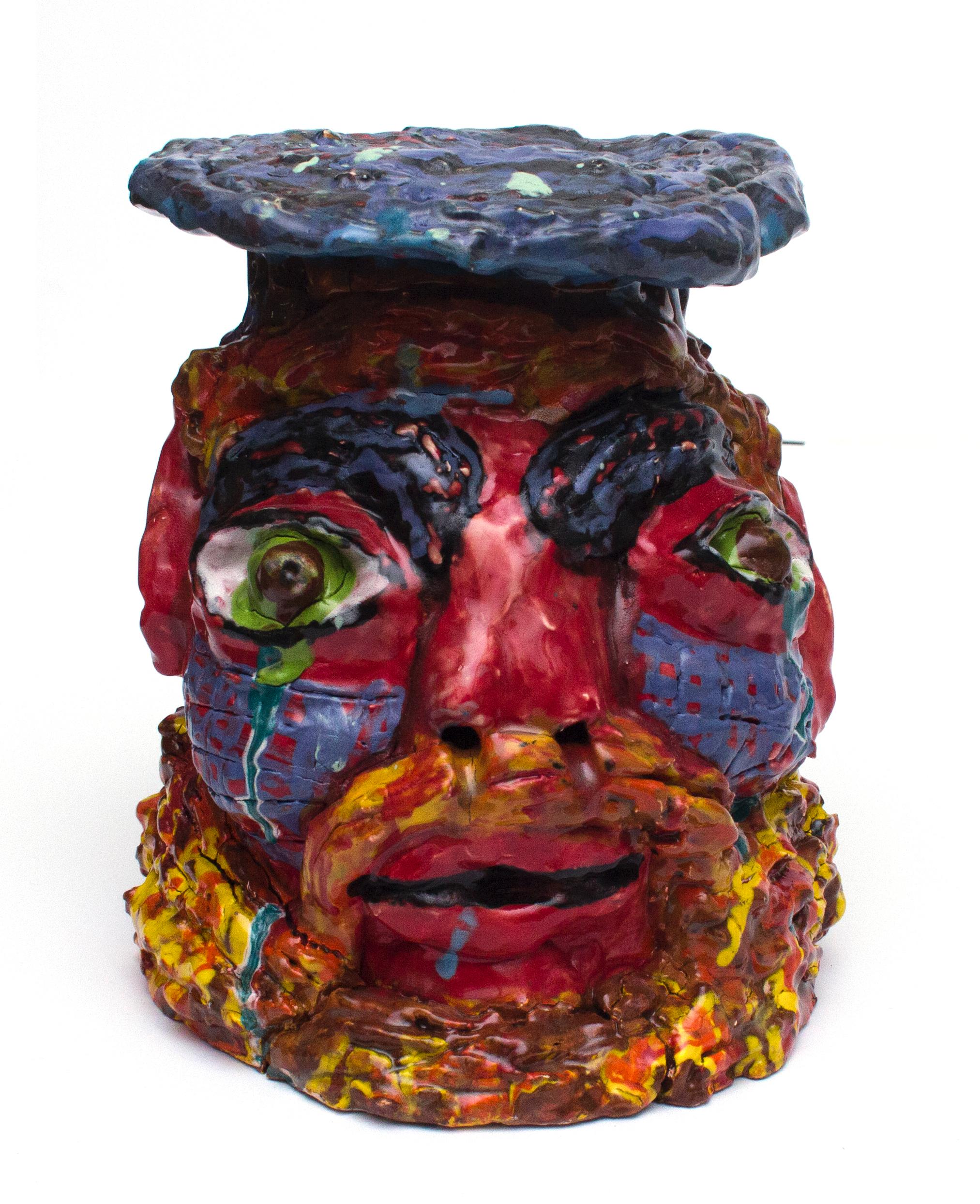 Jorge Gomez, Untitled (JG 049), 2019, Ceramic, 7 x 7 x 10 inches