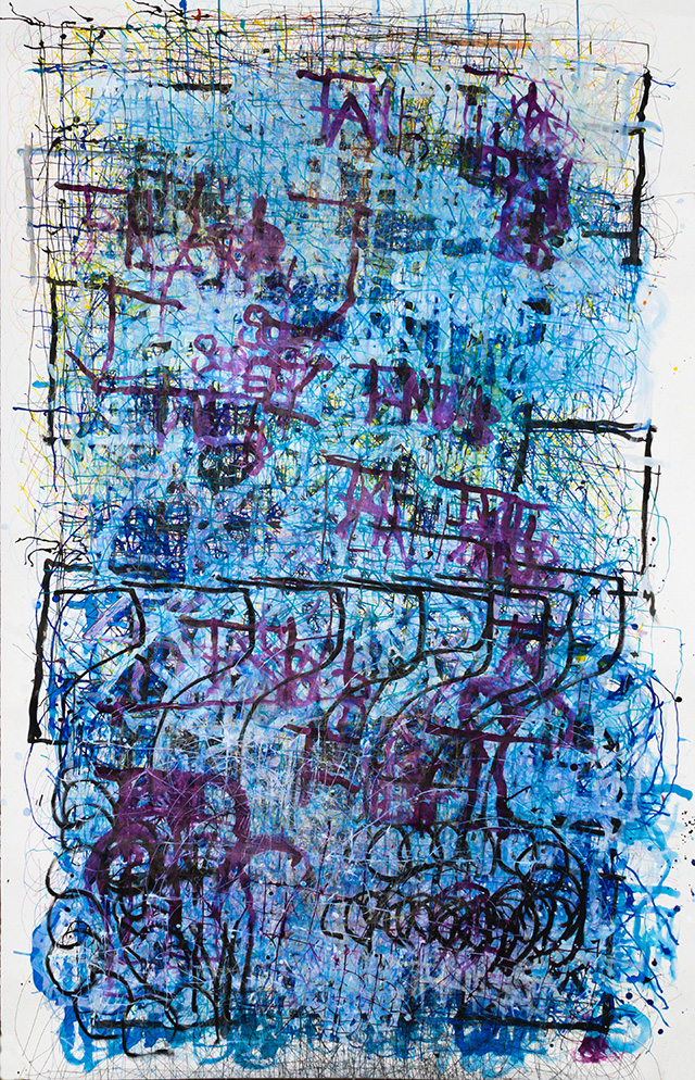Dan Miller, Untitled (DM 1107), 2019, Work on paper, 55.5 x 86 inches
