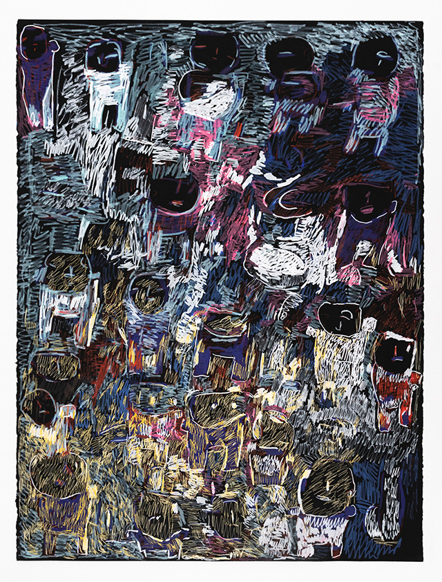 Donald Mitchell, Untitled (DMi 558), 2016, Work on paper, 22.5 x 30 inches