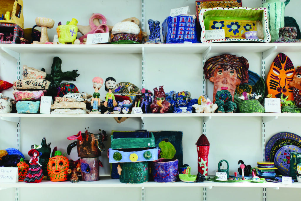 Creative Growth's ceramics department. Photography by Diana Rothery.