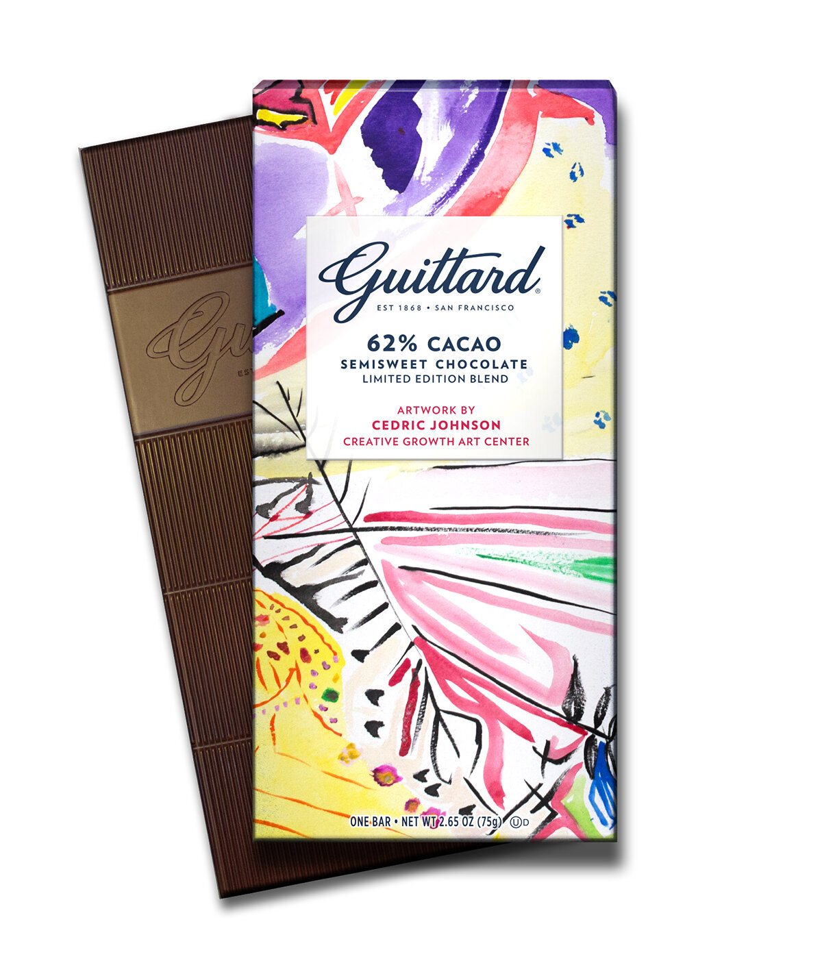 Guittard 62% Cacao Eureka Works Semisweet Chocolate Created in Partnership with Creative Growth