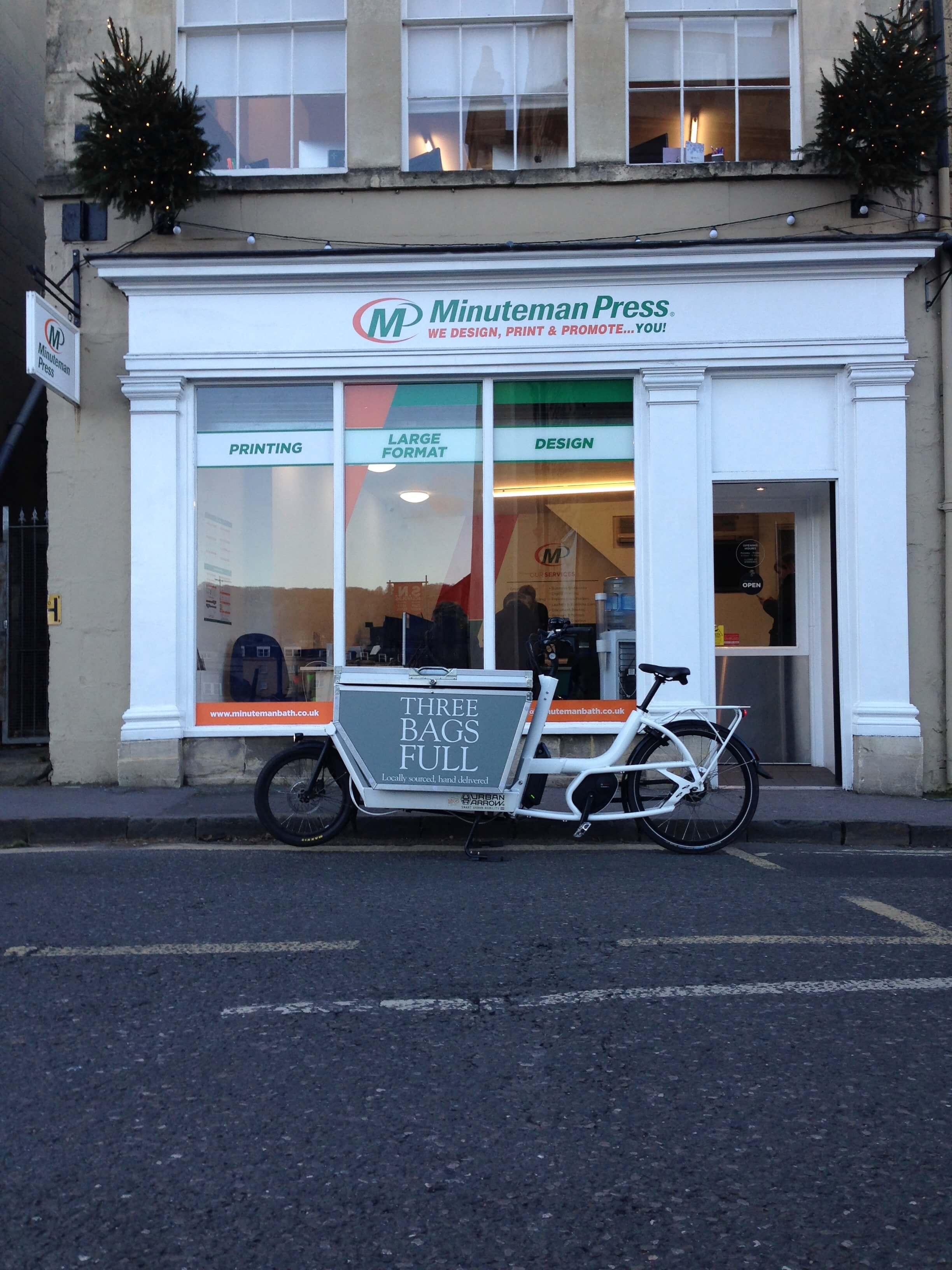 A very regular sight outside Minuteman Press in Walcot Street!