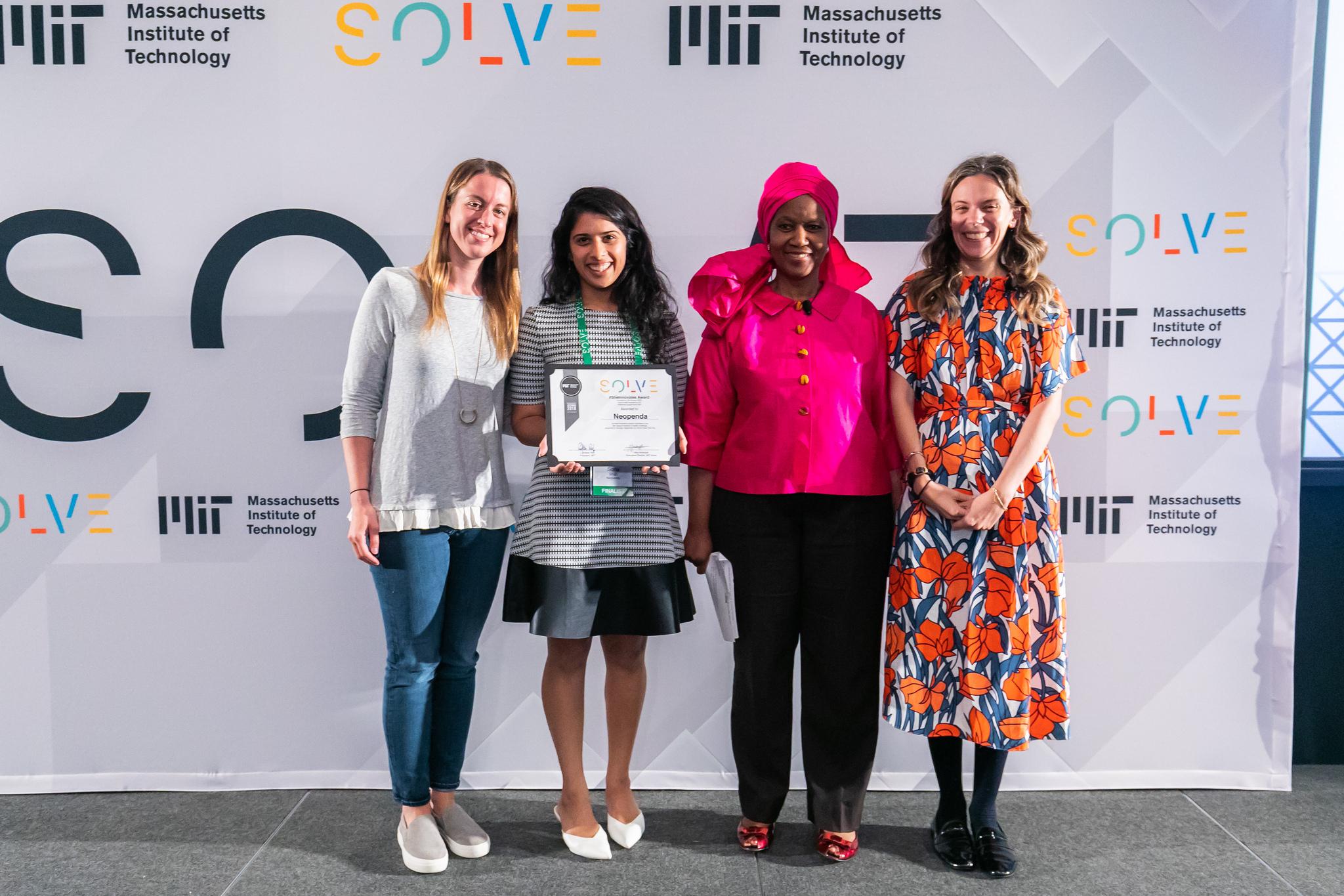 Solve Prize winner Sona Shah