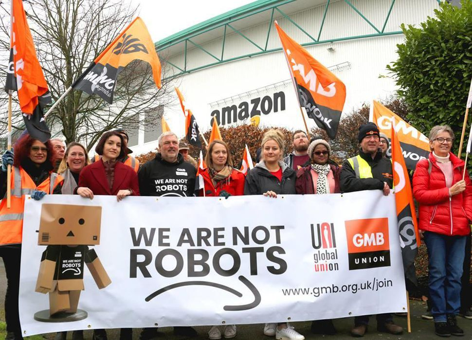 Amazon workers protest across Europe about their conditions.