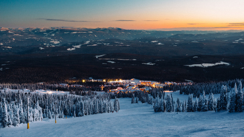 1. Go snow tubing under the stars - Big White