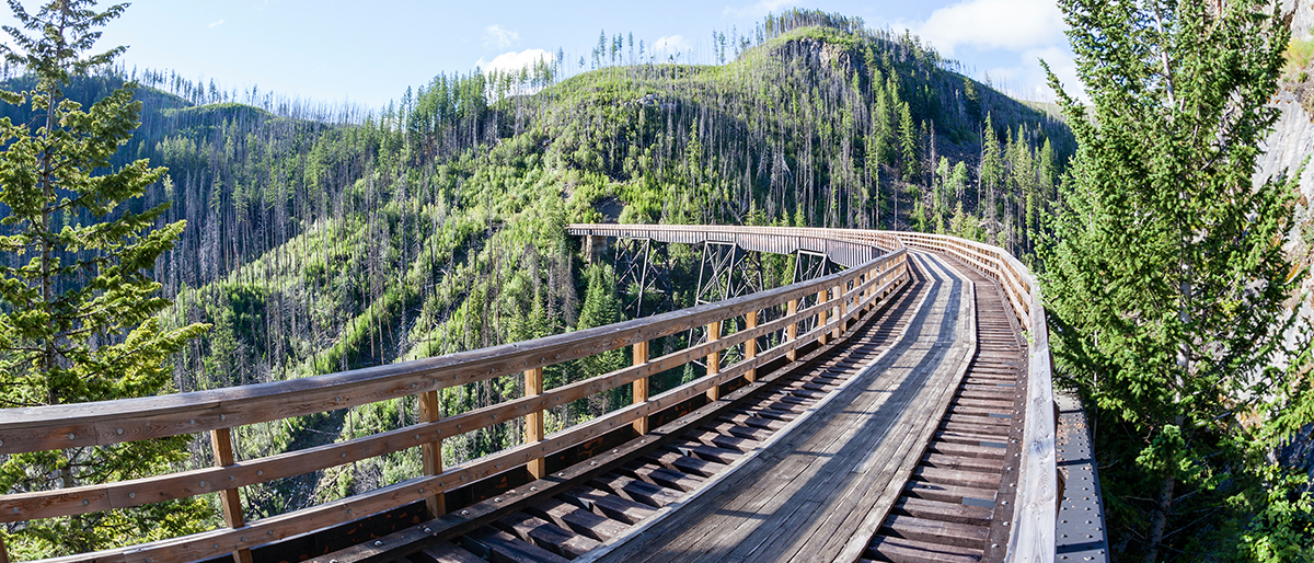 Photo courtesy of  Myra Canyon Trestle Restoration Society