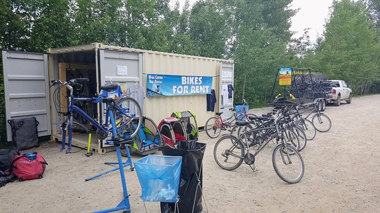 Bike rentals are available seasonally at the parking lot