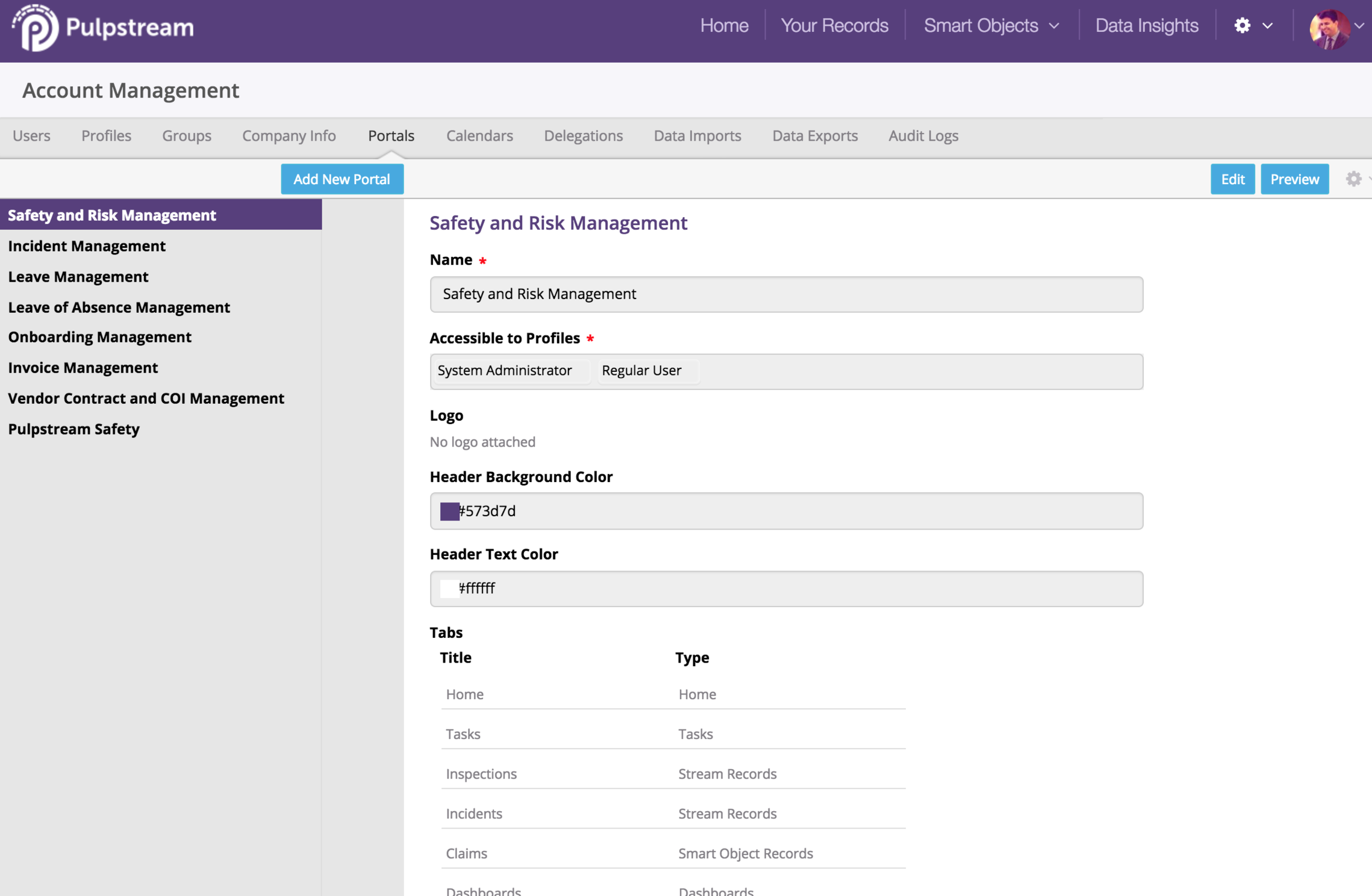 pulpstream desktop account management portal.png