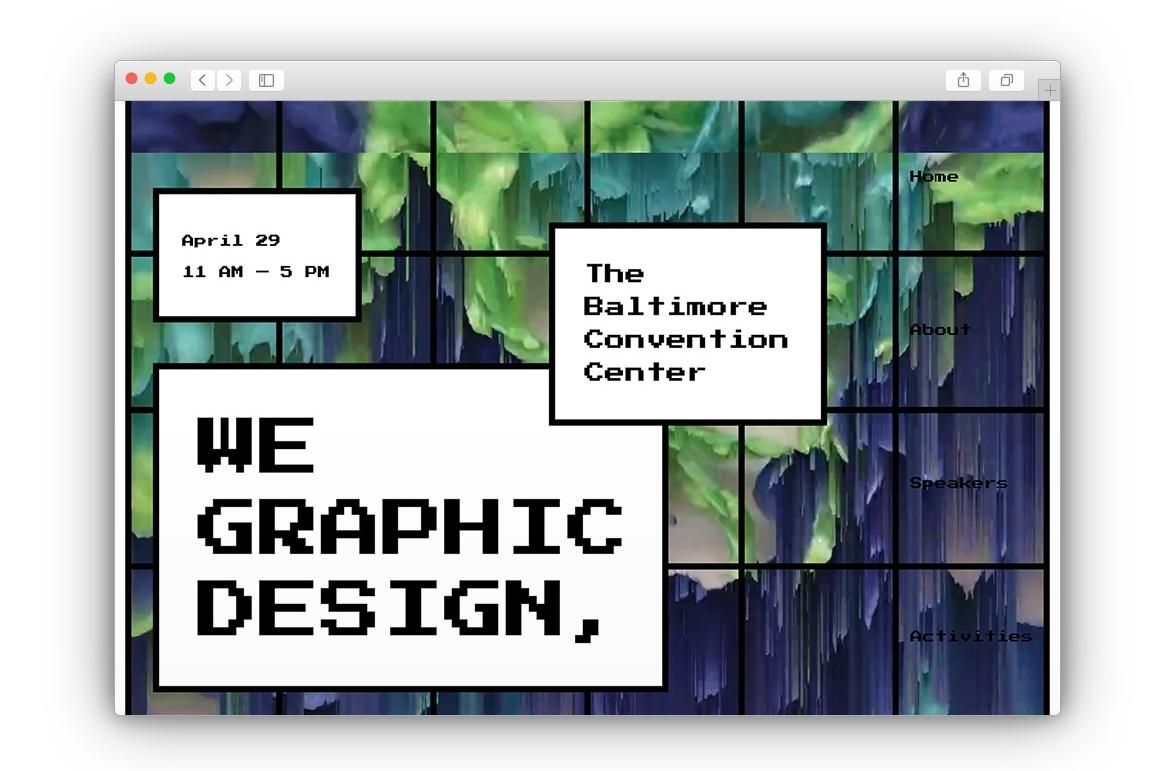 We graphic design,