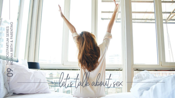 woman on edge of bed looking out window- blog banner