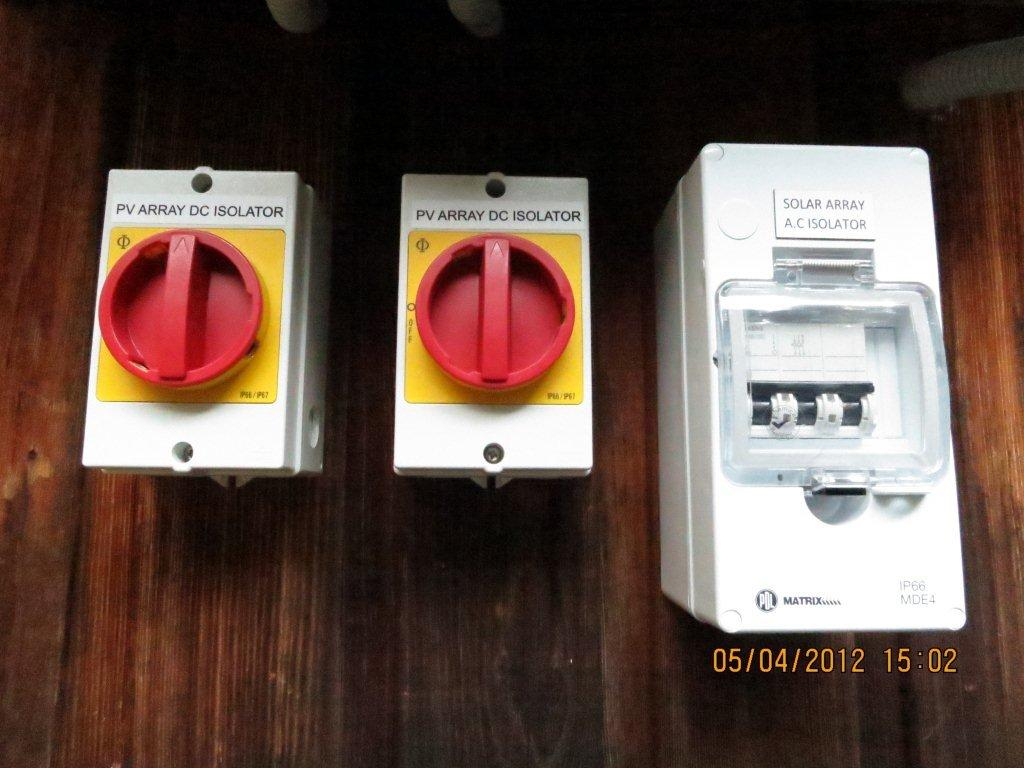 DC isolators are Kraus & Naimer (made in Austria) and AC 3 phase isolators are from Siemens.