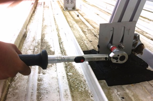 Every single nut and bolt was torqued to manufacturer's specifications to ensure optimal clamping forces were achieved. Hazet (Germany) calibrated wrenches were used for this purpose.