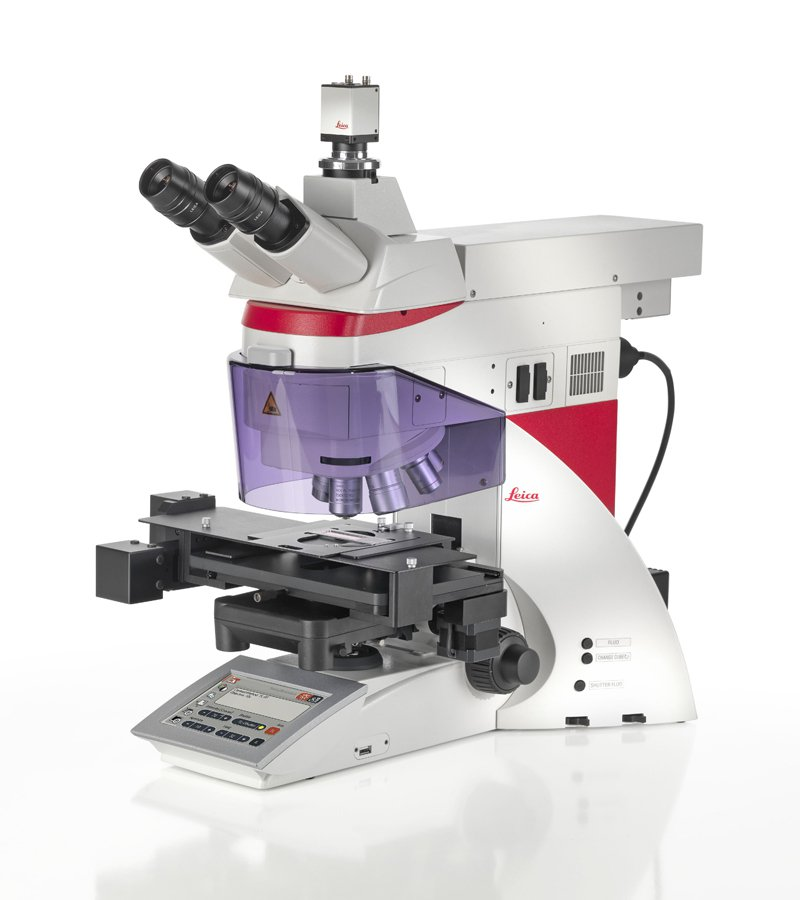 Leica Laser Microdissection Microscope (LMD7) - The Leica Laser Microdissection Microscope is a contact- and contamination-free method for isolating specific single cells or entire areas of tissue from a wide variety of tissue samples. The samples can then be available for further molecular biological methods such as PCR, real-time PCR, proteomics and genomics.