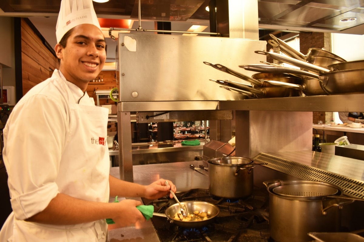 Jordan Diniz, culinary student in the post-graduate Italian program was inspired by his family to cook. Photo: Ladshia Jeyakanthan / The Dialog