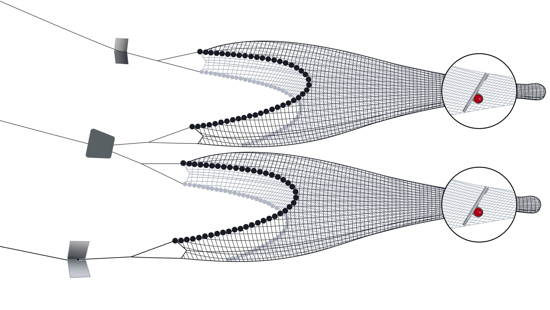 Pictured: Twin Trawls + Grid Angle