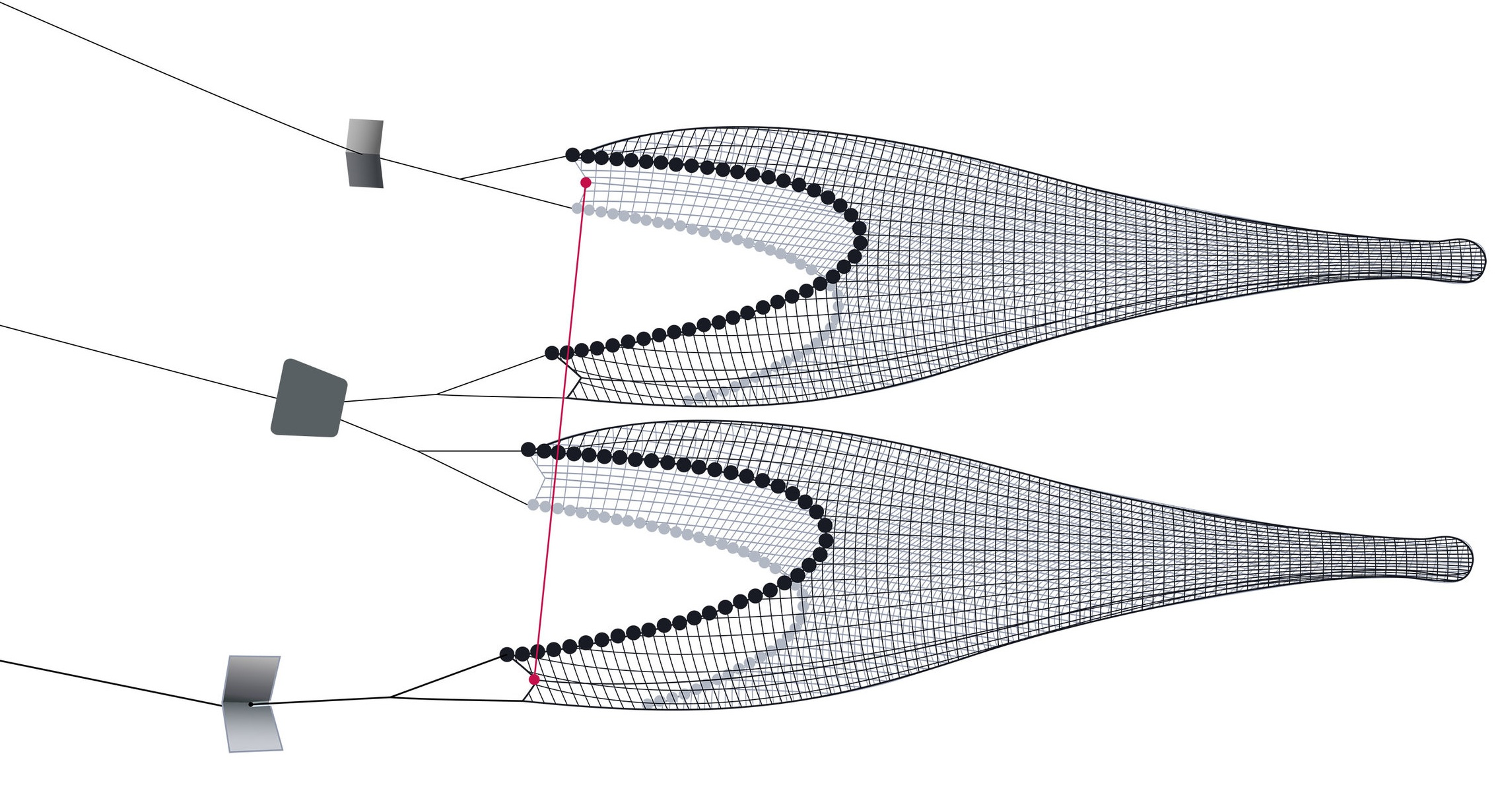 Pictured: Twin Trawls + Wingend Spread