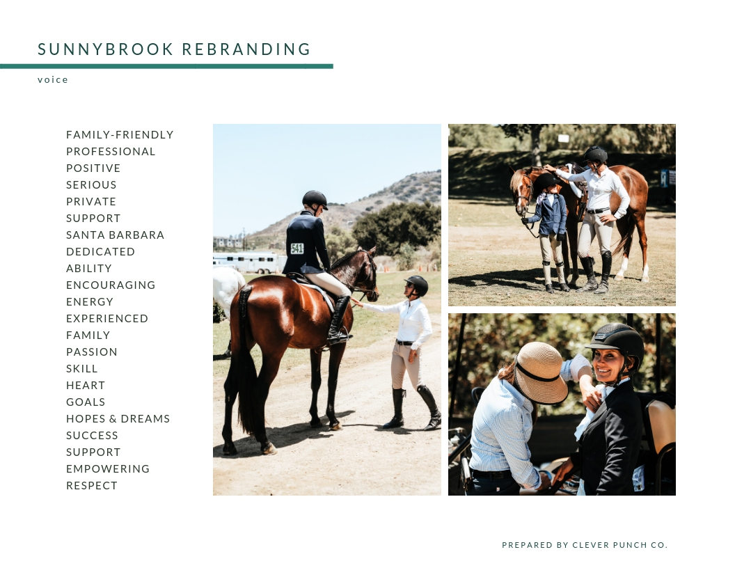 Clever Punch collaborated with Sunnybrook Elite Riding Club in rebranding their business.