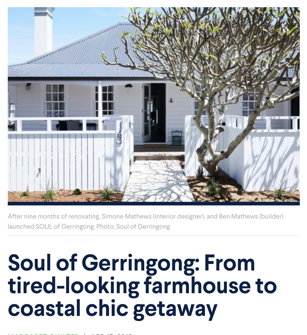 Soul of Gerringong: From tired-looking farmhouse to coastal chic getaway