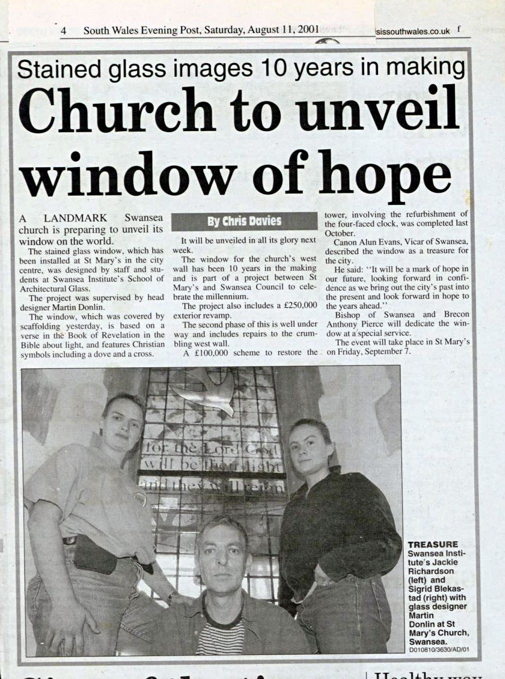 South Wales Evening Post August 11 2001.jpg