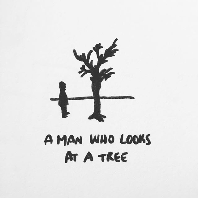 #meditation #tichnhathanh #readingtime #doodle #doodles #weekendvibes #doodlesketch #nature #man #tree #treeoflife #tree_lovers #tree_love #springbreak2019 #springlook #mindfulness #bnw #sketchbook #sayings