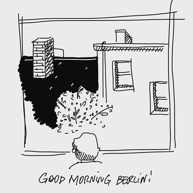Good morning Berlin! #morningmotivation #goodmorning #berlin #beingback #startoftheweek #mondaymotivation #journaling #bnw #sketchbook