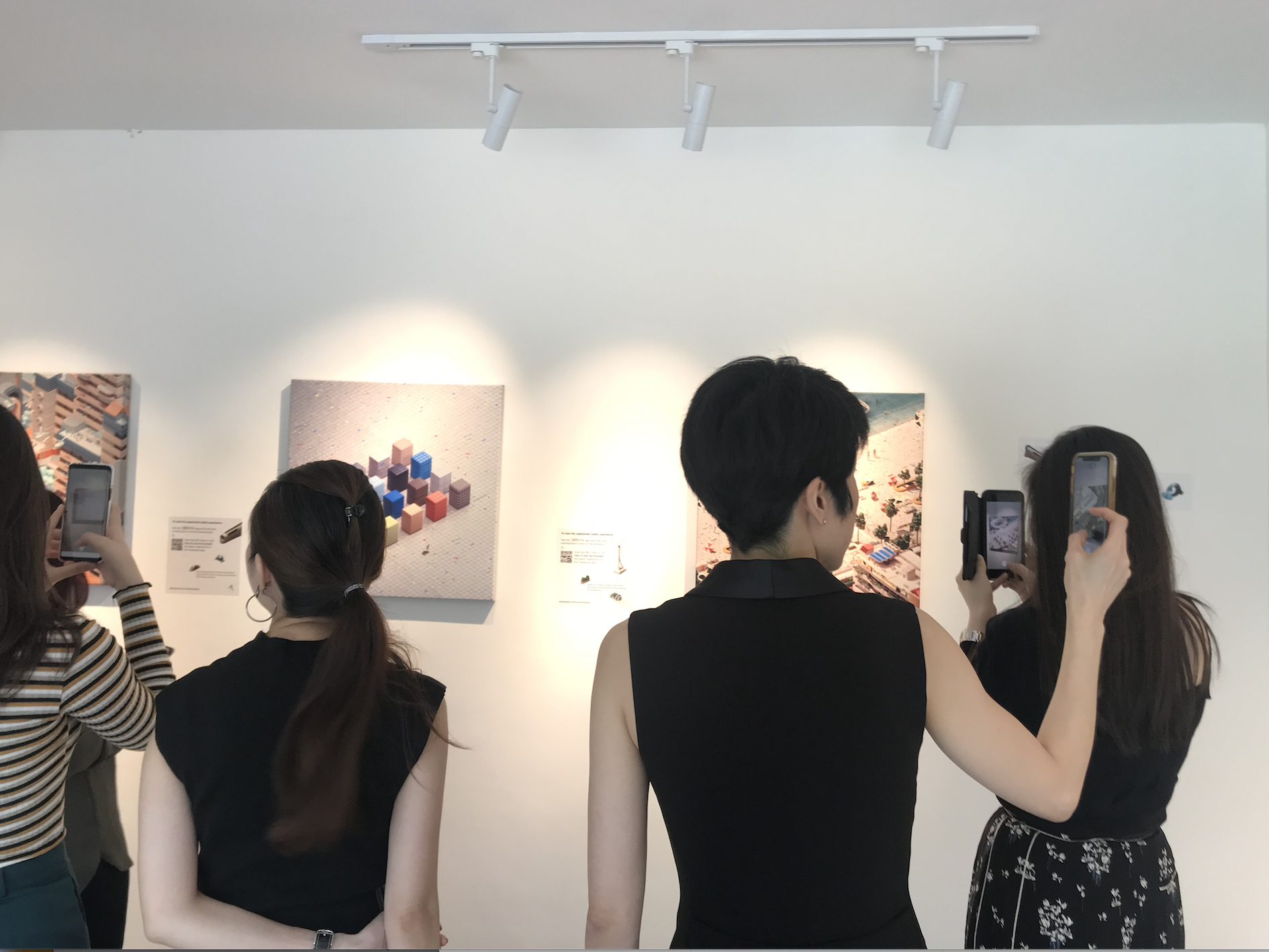Visitors experiencing André Wee's A Better Tomorrow at Jam@Siri House.