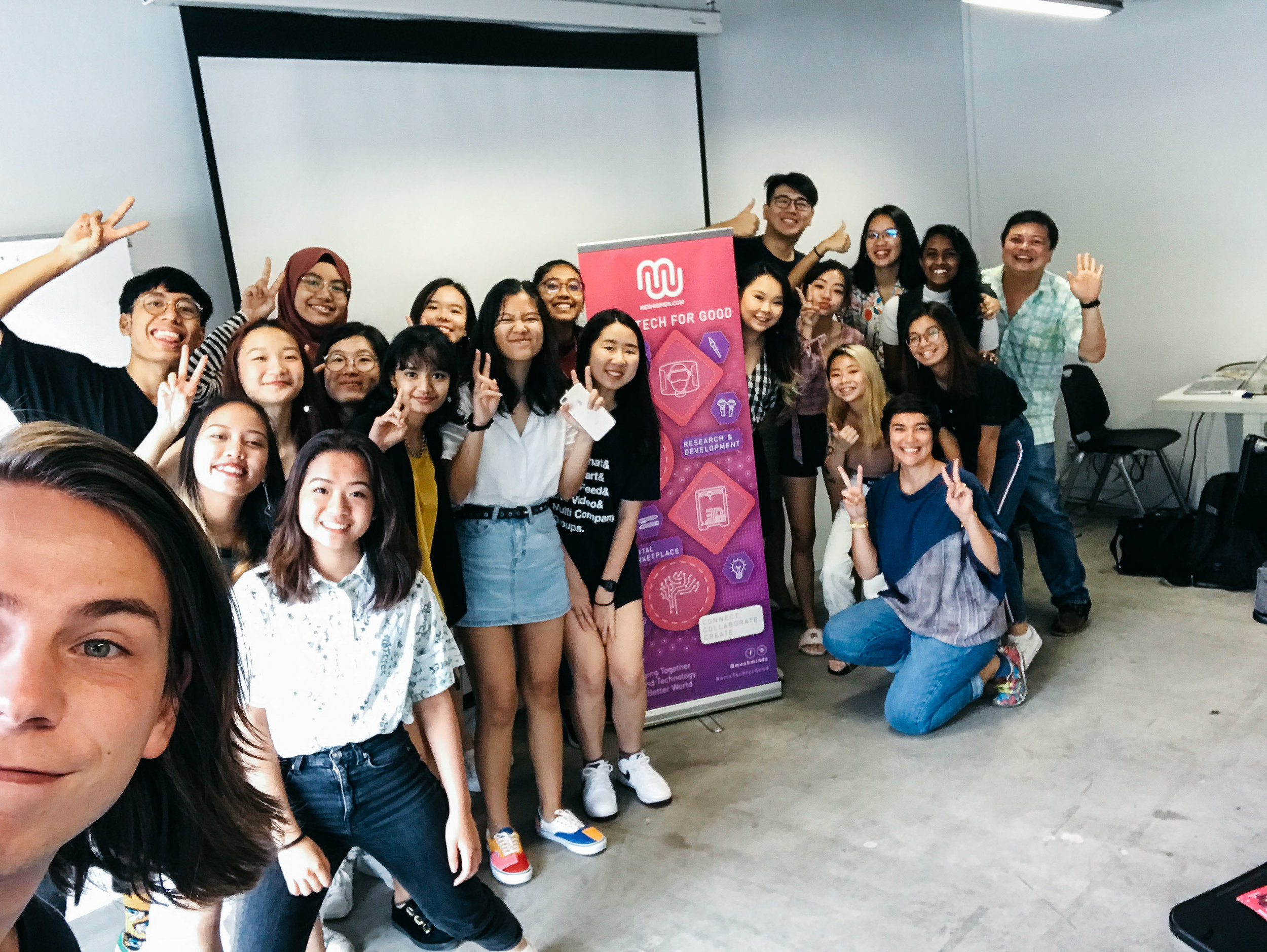 29 May 2019 - MeshMinds with Art Business Management students from Ngee Ann Polytechnic.