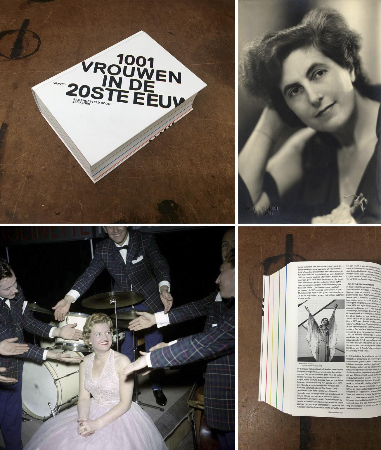 1001 vrouwen in de 20ste eeuw , samengesteld door Els Kloek en vormgegeven door Irma Boom.   1001 vrouwen in de 20ste eeuw , by Els Kloek. Design by Irma Boom.