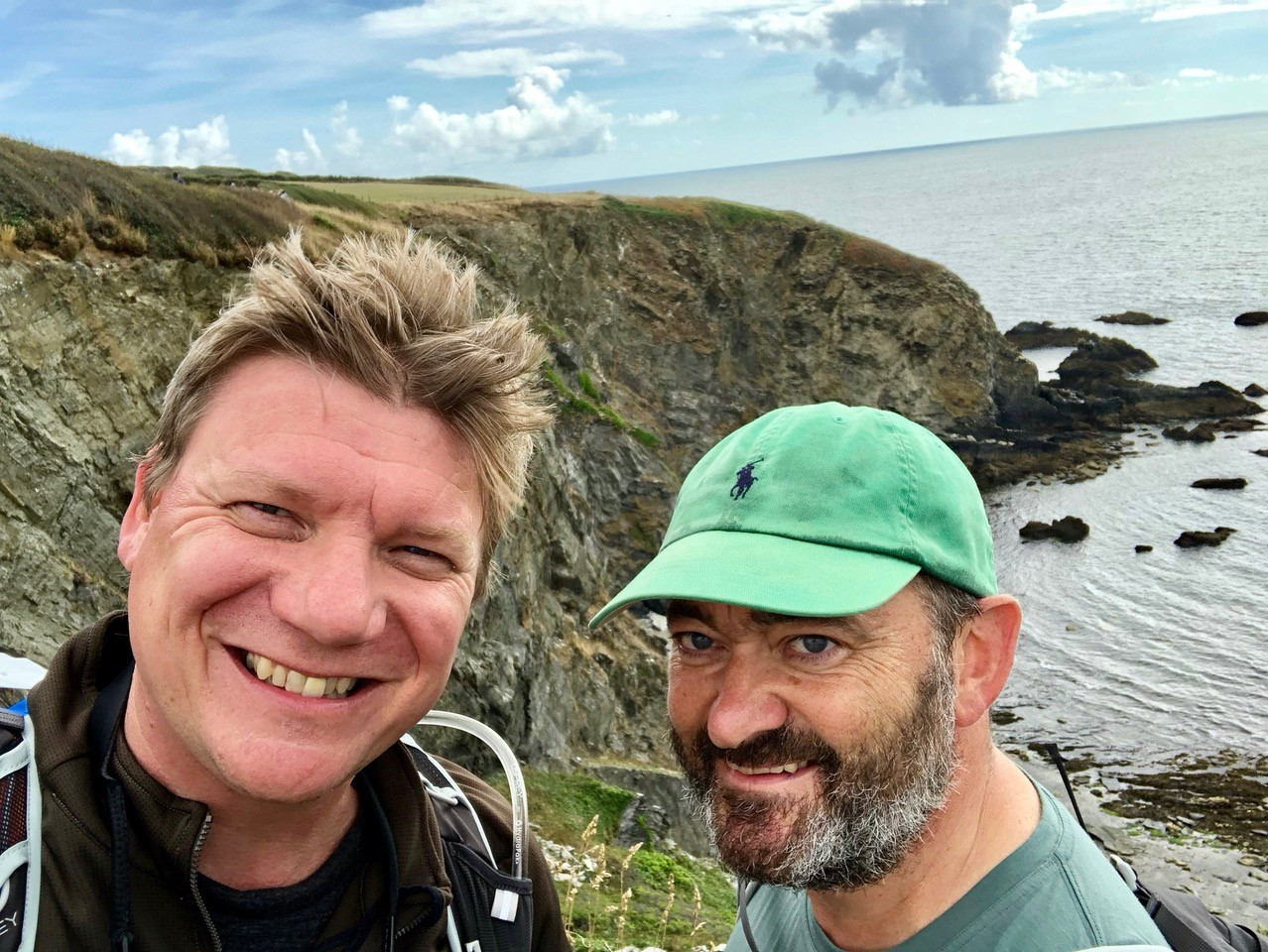 Ian (right) with friend Paul Bufton during the 24-hour Cornwall Mind Hike