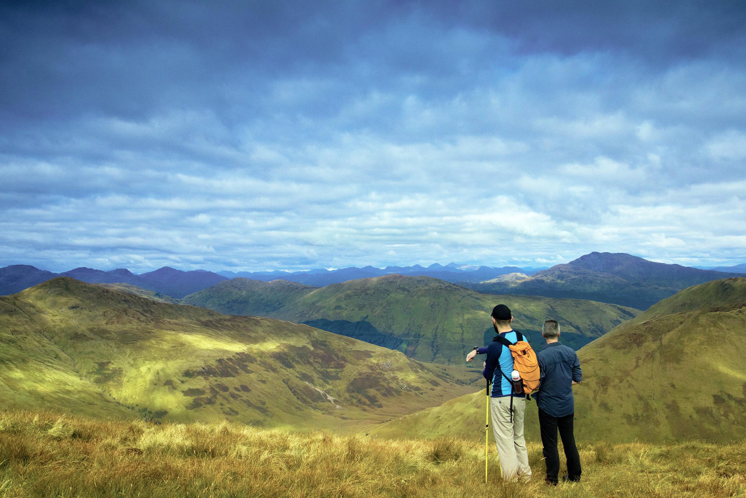 Peak views from Beinn Eich in the Loch Lomond and Trossachs National Park.