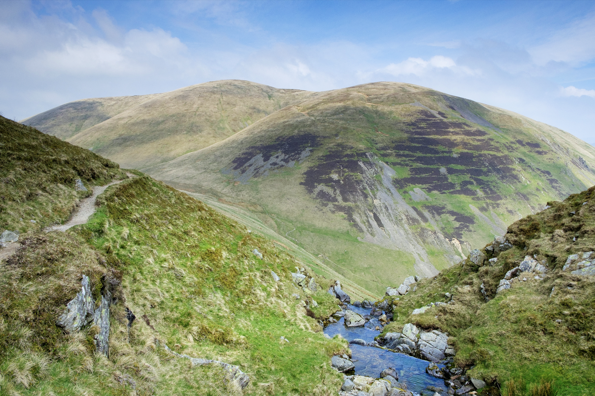 At the top of Cautley Spout, looking north to Yarlside.