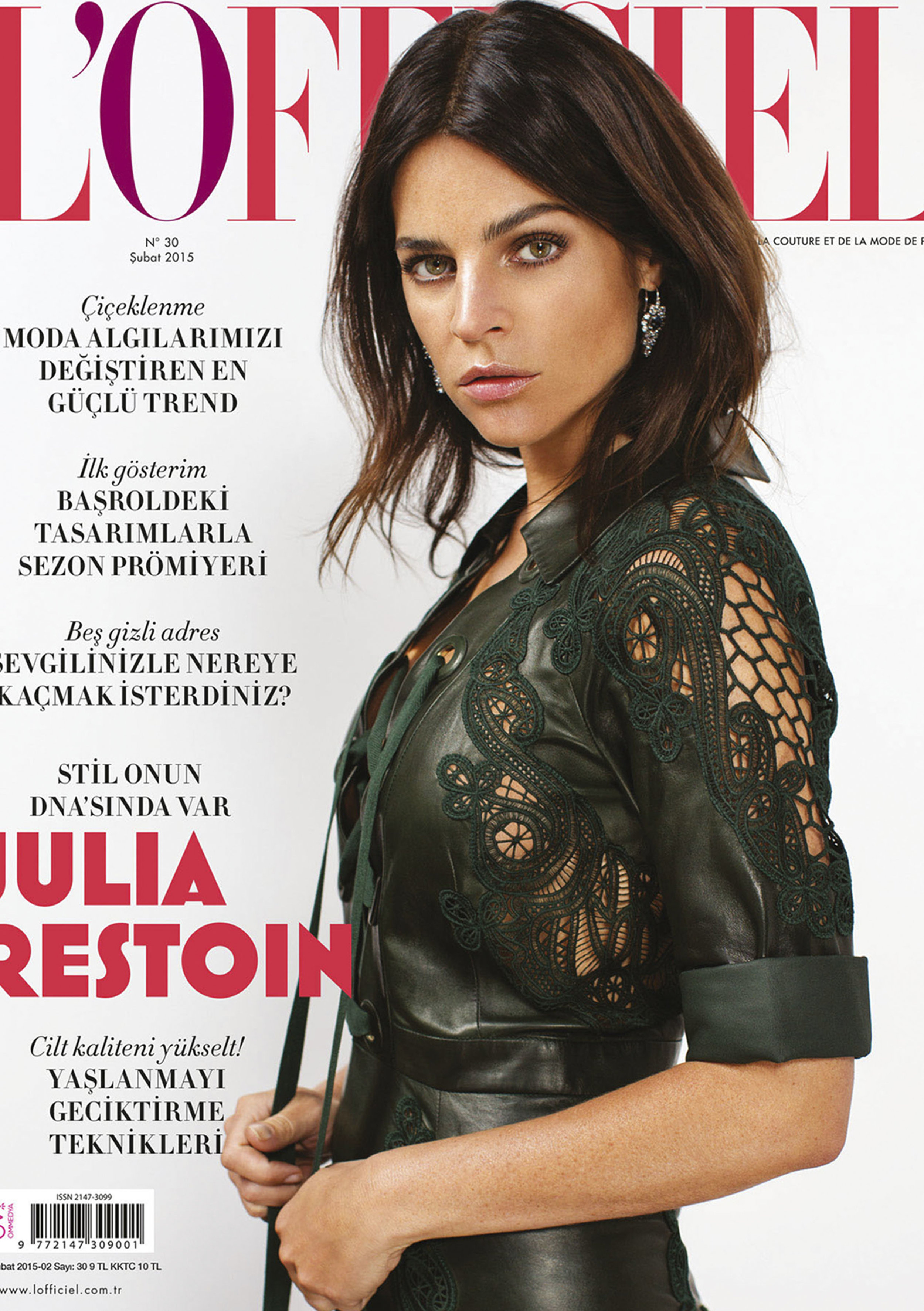 L'officielTurkey - Julia Restoin 2015, February Issue Cover Story