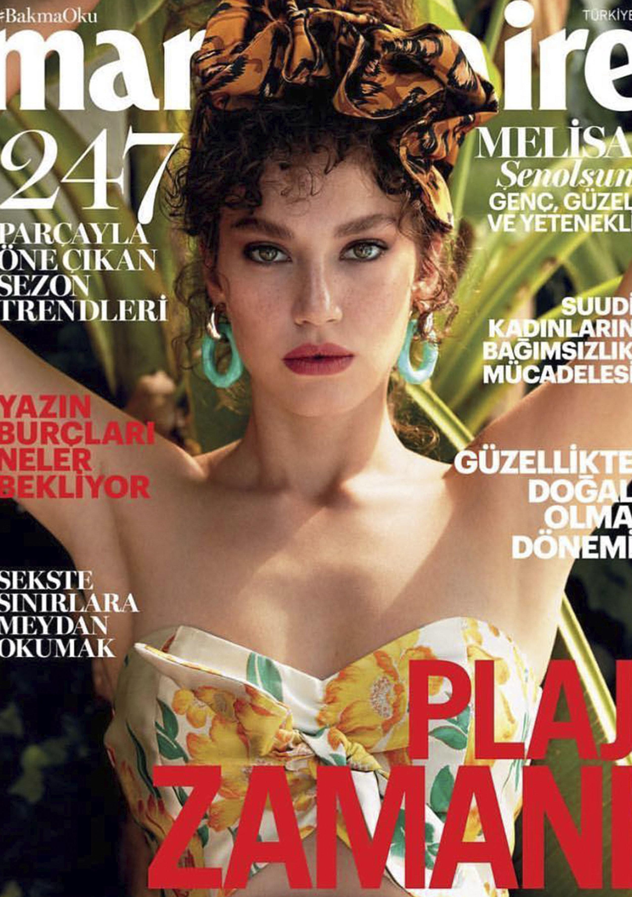 Marie ClaireTurkey - Melisa Senolsun 2018, August Issue Cover Story
