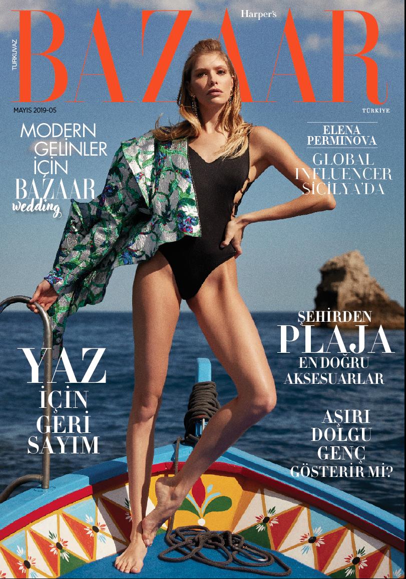 Harper's BazaarTurkey - Lena Perminova 2019, May Issue