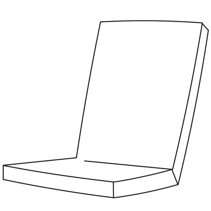 "Niederlehner   Fertigmaße ca. 100 x 50 x 9 cm  Stehsaum: 2,5 cm  mit Reißverschluss  Füllung (herausnehmbar):  Schaum Rg ""3048""  Sitz: 43x43x3 cm  Rücken: 43x43x3 cm  320g Vlies, Breite: 54 cm  Lutrasilbezug"