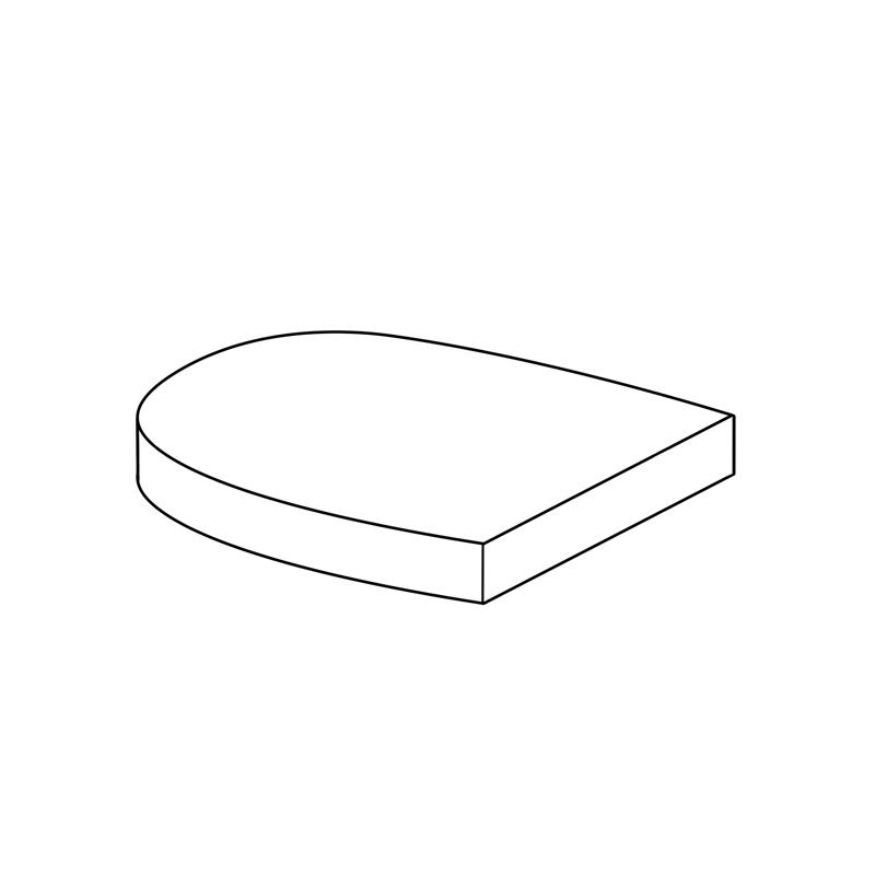 "Sitzkissen Burma   Fertigmaße ca. 46 x 48 x 7 cm  mit Reißverschluss  Füllung (herausnehmbar):  Schaum Rg ""3048"" in 4 cm  mit 200g Vließ ummantelt  Lutrasilbezug"