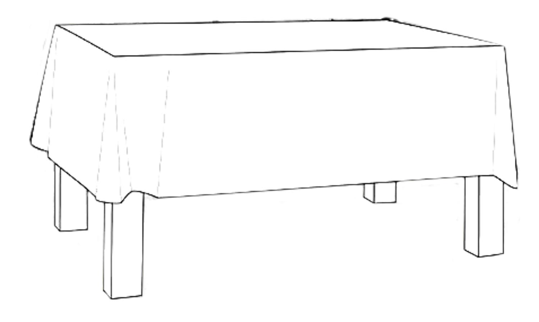 Tischdecke   100 x 100 cm  oder Sondermaße  mit Briefecken