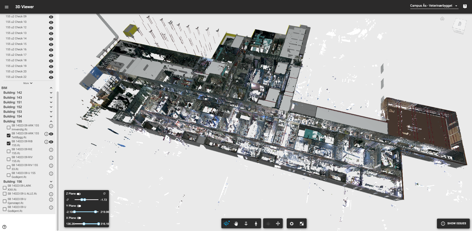 The 3D As-Built status mapped directly to the 3D As-Planned BIM models in the Imerso platform