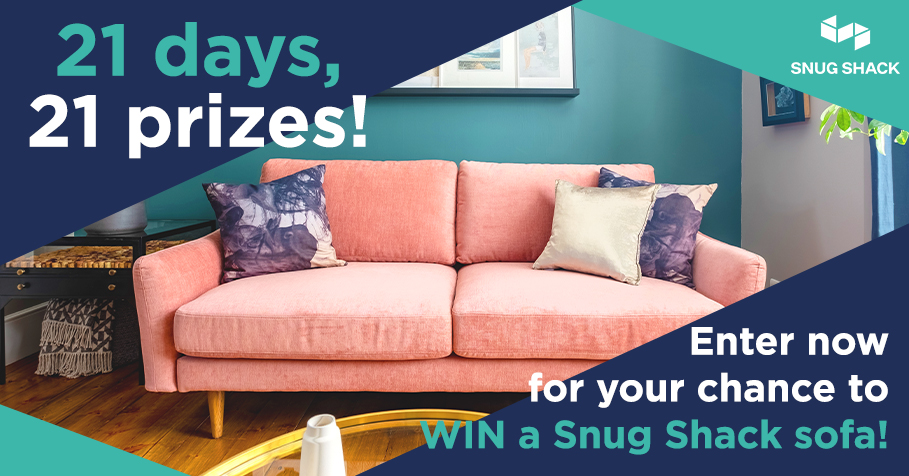 Win prizes everyday! - We have a prizes to be won on each day of our 21 day giveaway. With 20 wireless chargers, as well as one Snug Shack sofa up for grabs, you're going to want to get involved…