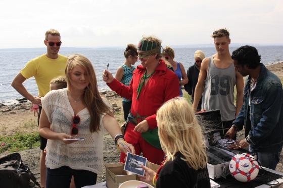 Her er Årets artister i VG sommershow 2012. Foruten Thoris, ser vi Celin, Chand og Tobias freestyle