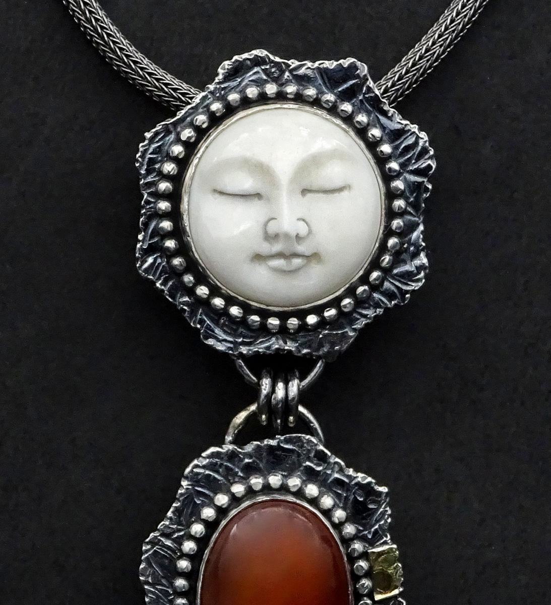 2-Handcrafted Silver& Stone Pendant, Sylvia McCollum, Asheville, NC-001.JPG
