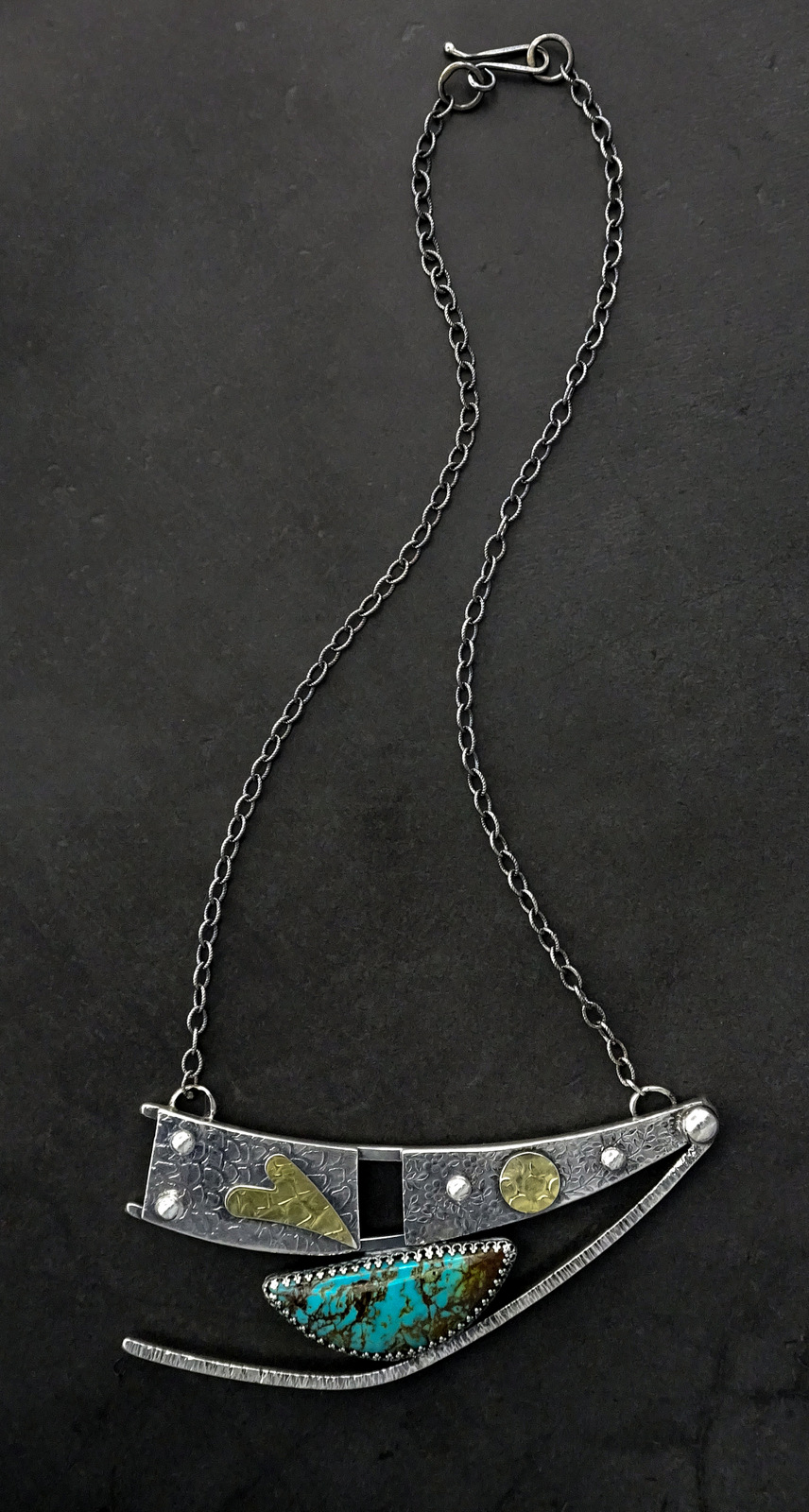 1Hand Crafted Silver & Turquoise Necklace, Sylvia McCollum-003.jpg
