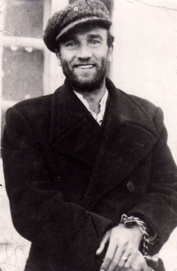 Ljubo Čupić instantes antes de ser fusilado