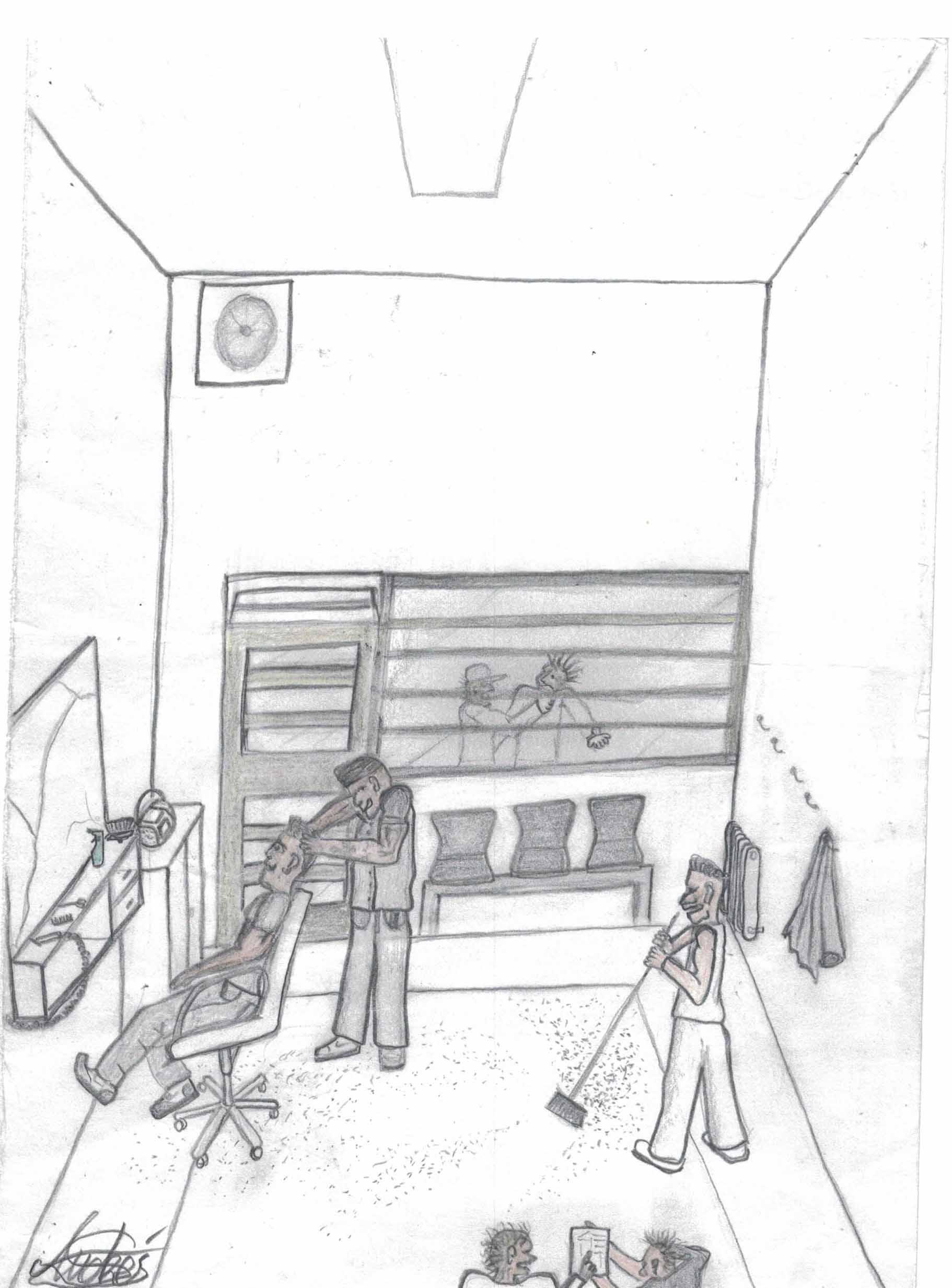 """Ilustración del recluso Andrés, alias """"Chuchi"""" - 19/12/2018"""