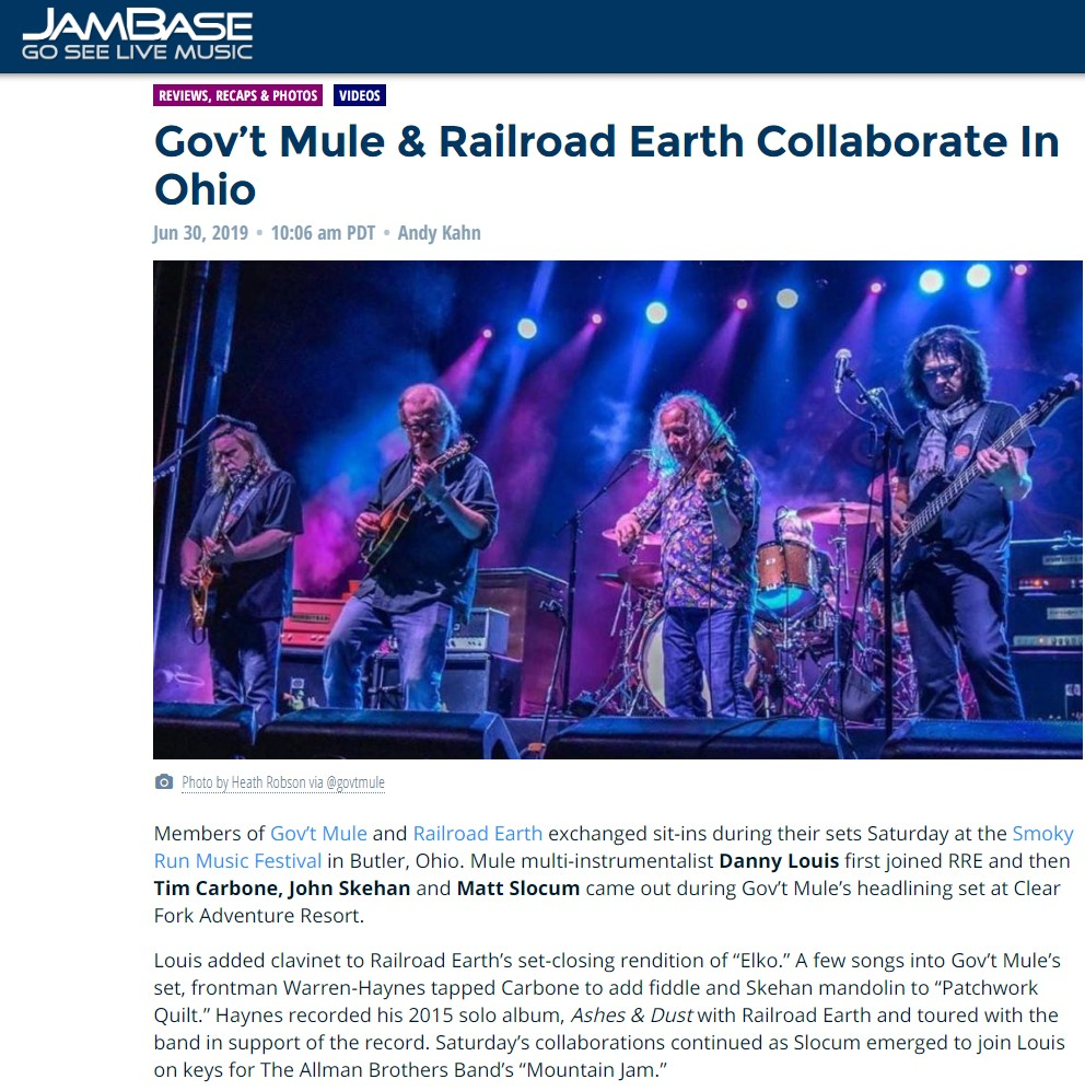 Check out the full Jambase.com review & video clips from this!