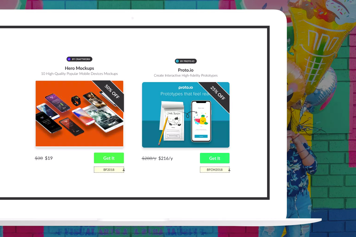 Boutique - Hand-picked web design and development tools. A great selection of top products, and even better they are all on sale during this Black Friday (week/month/year?).