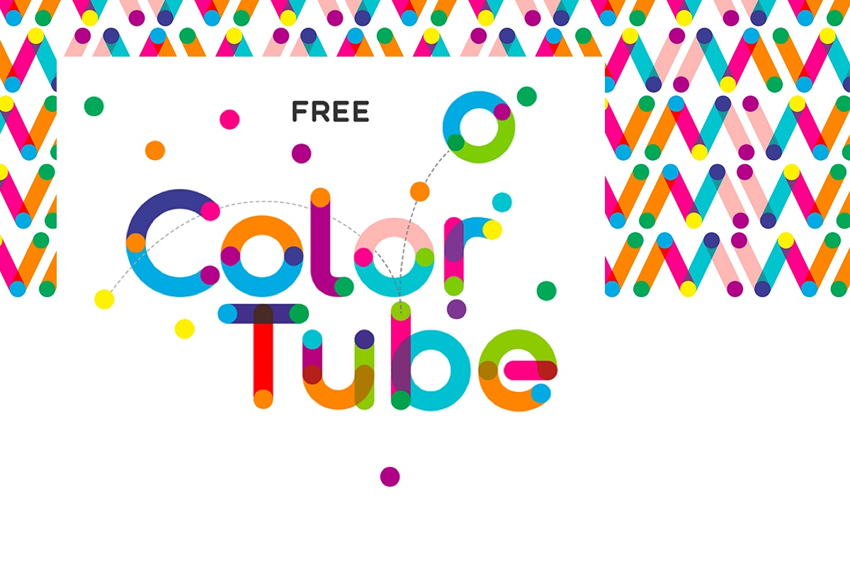 ColorTube - I love this font, super fun and FREE! Made by Ivan Filipov, you can download it from Fontfabic. Only downside is that it requires Adobe CC 2018 to work properly as a colour font.