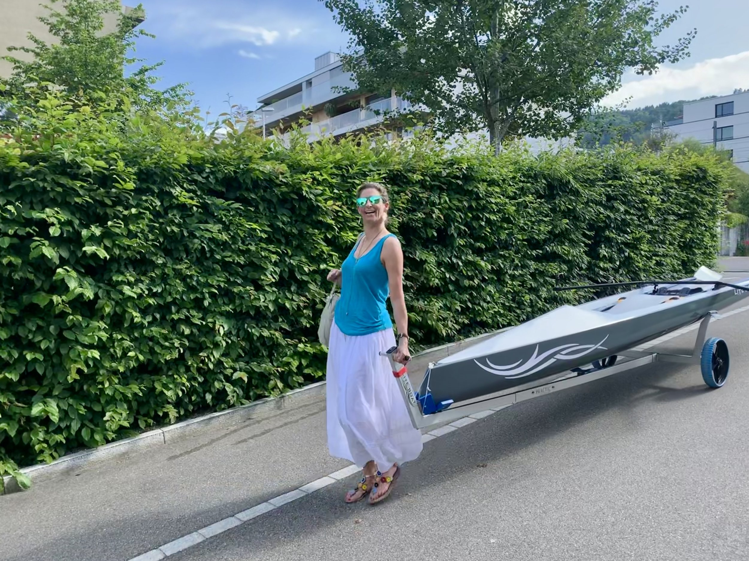 A woman and her first boat