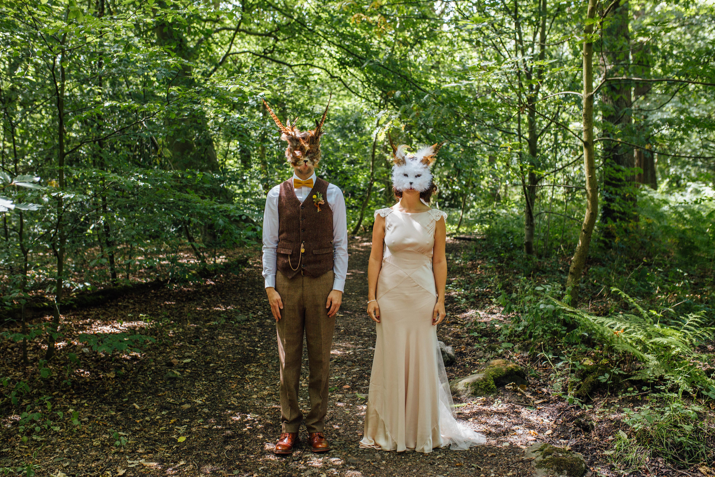 Wes Anderson Inspired Wedding Sheffield Ecclesall Woods